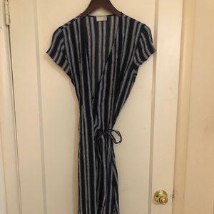 Aritzia striped slit dress